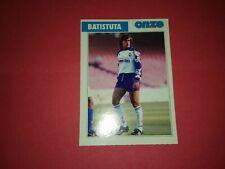 FICHE FOOTBALL ONZE MONDIAL 1996 ROOKIE BATISTUTA GABRIEL FIORENTINA RARE