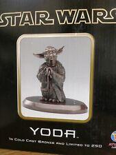 Attakus Star Wars Yoda Bronze Statue 1/5 scale Rare Limited to 250 Worldwide