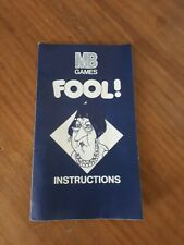 Fool Game Replacement Pieces instructions rules YA