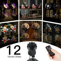 Projector LED Lights of Christmas Easter 12 Images Control Remote and Timer