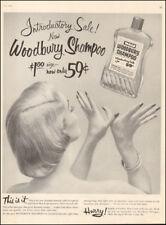 1955 Vintage ad for New Woodbury Shampoo retro fashion bottle jewlery  (103117)