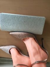 Lk Bennett Size 38, Uk 5 Pink Heels With Crystals, New ,Free Bag