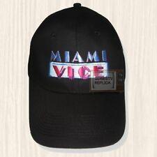 Miami Vice Black Hat Series TV Sonny Crockett Ricardo Rico Tubbs Cap Embroidered