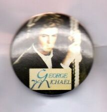 GEORGE MICHAEL BUTTON BADGE  FAITH 80s 90s POP STAR , FAST LOVE WHAM! 25mm D PIN