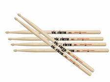 Vic Firth  Classic American Hickory 5B Wood Tip Drum Sticks x 3 Pairs Drumsticks
