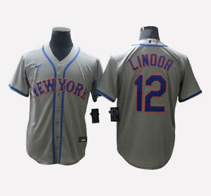 New York Mets #12 Francisco Lindor Cool Base Men's Stitched Jersey Free Shipping