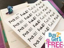 PP372 -- Foul Language F*ck it! Planner Stickers for Erin Condren (24pcs)