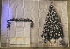 Photography Backdrops Christmas tree Fireplace Gift Winter Vinyl Background Gold
