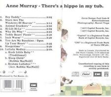Anne Murray: There's A Hippo In My Tub 1977 MUSIC AUDIO CD Country Lullaby Songs