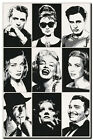 *FRAMED* CANVAS ART `Hollywood Legends' Marilyn Monroe, Audrey Hepburn 18x12
