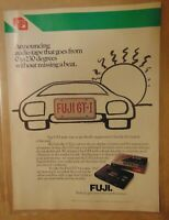 Vintage 1980's FUJI AUDIO TAPE 1984 Original Print Advertising