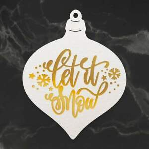 Couture Creations Cut Foil and Emboss Die Naughty or Nice Let it Snow Bauble 1pc