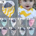 Baby Girls Boy Kids Saliva Towel Bandana Bibs Infant Dribble Triangle Head Scarf