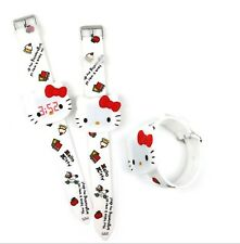Women Girl Children Cute White Hello Kitty Led Silicone band Watch Gift for her