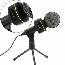 USB Audio Condenser Microphone Mic Studio Recording w Shock Mount For PC Laptop