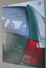Volkswagen VW Bora Variant Italian Sales Brochure dated 2000 Includes 2.8 V6