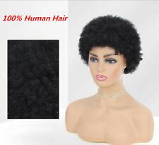 Short Black Afro Kinky Curly Wig Brazilian Remy Human Hair Short Wigs For Women
