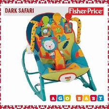 NEW Fisher Price Infant To Toddler Rocker Dark Safari-FAST SHIP-NEW