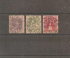 TIMBRE SUISSE SCHWEIZ SWITZERLAND PRO JUVENTUTE 1917 N°154/156 OBLITERE USED
