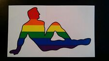 Gay Pride rainbow Male mud flap sticker   - New