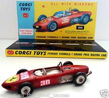1960's CORGI 154 FERRARI F1 GRAND PRIX RACING CAR Diecast Model & Custom Display
