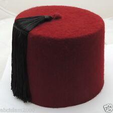 Fez Authentic Turkish-Ottoman Hat,Tarboosh Special orders  Red ,Black Tassel