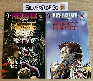 Predator vs. Magnus Robot Fighter #1 and #2 Complete in HG! (Valiant, 1992)