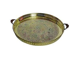 Traditional Brass Round Tray 41 cm Serveware Gift Item