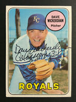 Dave Wickersham Royals signed 1969 Topps baseball card #647 Auto Autograph