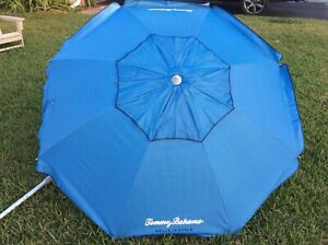 Tommy Bahama 7' Beach Umbrella with Tilt and Carrying Bag, Blue
