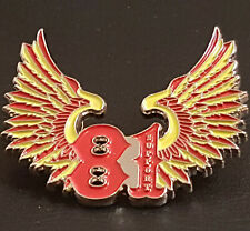 More details for metal pin badge 81 patch nomad angels outlaw bikers hells mc riders present gift