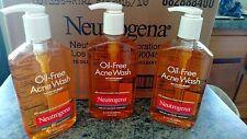 Neutrogena Oil-Free Acne Wash MICROCLEAR Technology 9.1 oz Pump Lot of 3 New