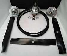 """Deck Spindle Blade Belt Kit Set 52"""" Husqvarna MZ52 539112170 539112079 522811301"""