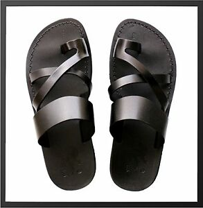 Camel Leather Jesus Flip Flops Strap Handmade Thongs Sandals US 5-16 EU 36-50