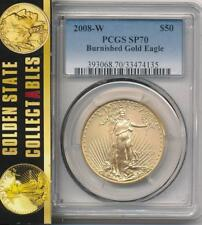 2008 W $50 BURNISHED GOLD EAGLE PCGS SP(MS)70 PERFECT COIN
