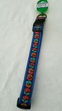 New Adjustable Blue Dog collar  22-28""