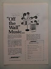 1974Print Ad Bose Stereo Speakers ~ Off the Wall Music Art