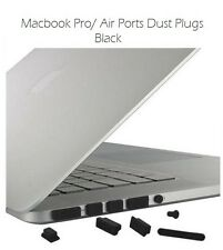"13"" 15"" 17"" LAPTOP MACBOOK PRO AIR DATA PORTS BLACK DUST COVER PLUGS  NEW"