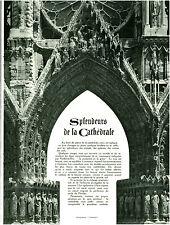 Publicité ancienne cathédrale de Reims 8 huit feuillets 1938 issue de magazine
