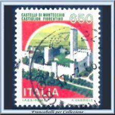 1986 Repubblica Castelli Italia Montecchio L. 650 Usato
