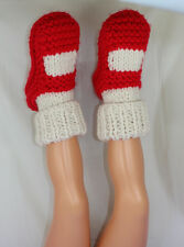 PRINTED INSTRUCTIONS-CHILDRENS SUPER CHUNKY CUFF SOCK SLIPPERS KNITTING PATTERN