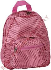 Mini Backpack Pink Brown Polka Dots Embroidery Option