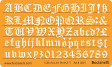 10mm Old English Lettering Letters Art Craft Drawing Drafting Template Stencil