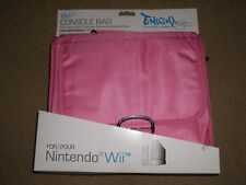 NINTENDO Wii CONSOLE CARRY CASE BAG in PINK - BRAND NEW
