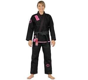 Fuji Submit Everyone Womens Brazilian Jiu-Jitsu BJJ Gi - Black w Pink