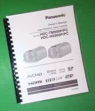 LASER PRINTED Panasonic HDC-HS900P TM900P PC Camera 176 Page Owners Manual Guide