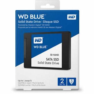 """WD 2TB Blue 3D NAND SATA III 2.5"""" Internal SSD WDS200T2B0A"""
