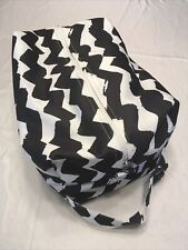 New ListingCloth Diaper Pod Travel Bag Storage Black N White Chevron