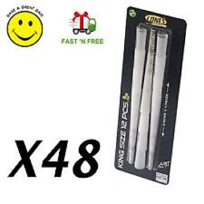 CHEAPEST 48 x Pre Rolled Thin King Size Tobacco Cones Ready Smoking Rizla Paper