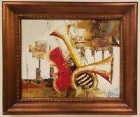 "Vintage Oil Painting on Canvas Still Life Signed Framed Art (21.5"" x 25.5"")"